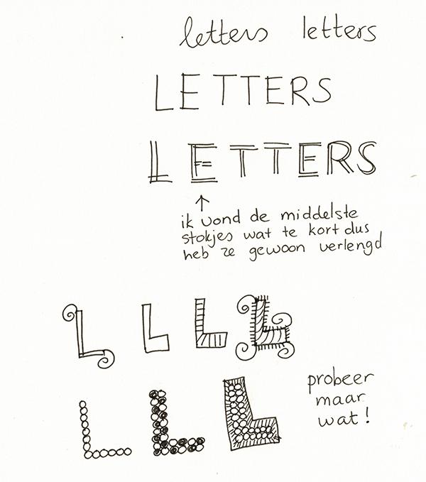 letters tekenchallenge